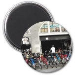 Cyclists Fridge Magnet