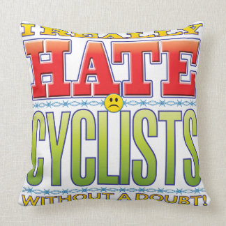 Cyclists Hate Face Throw Pillow