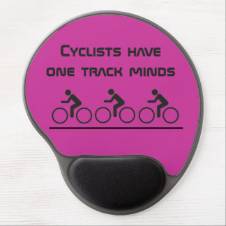 cyclists have one track minds gel mouse pad
