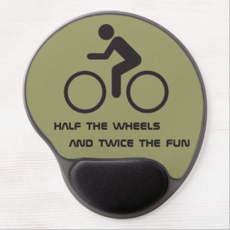 cyclists humor gel mouse pad