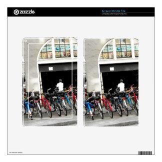 Cyclists Kindle Fire Decal