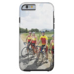 Cyclists posing on country road tough iPhone 6 case