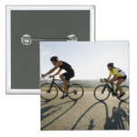 Cyclists road riding in Malibu Buttons