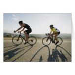 Cyclists road riding in Malibu Greeting Card
