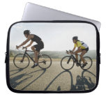 Cyclists road riding in Malibu Laptop Computer Sleeves
