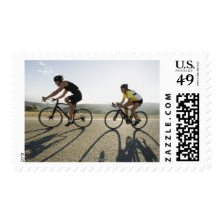 Cyclists road riding in Malibu Stamps
