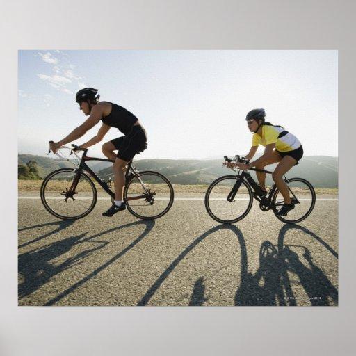 Cyclists road riding in Malibu Print