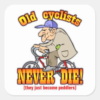 Cyclists Square Sticker