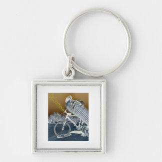 Cyclocactaceae Silver-Colored Square Keychain