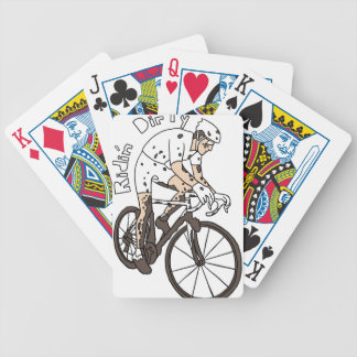 Cyclocross Rider Riding Dirty Bicycle Playing Cards