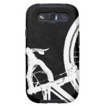 Cyclocross - white on black samsung galaxy s3 cover