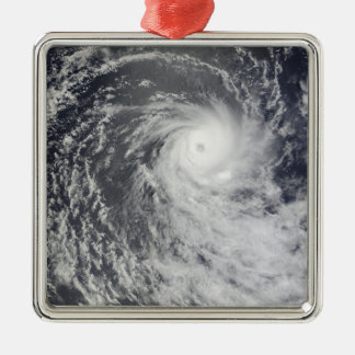 Cyclone Anja over the Southern Indian Ocean Metal Ornament