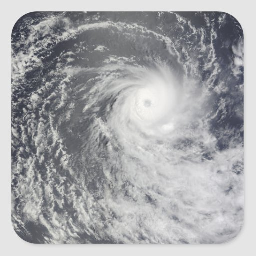 Cyclone Anja over the Southern Indian Ocean Sticker
