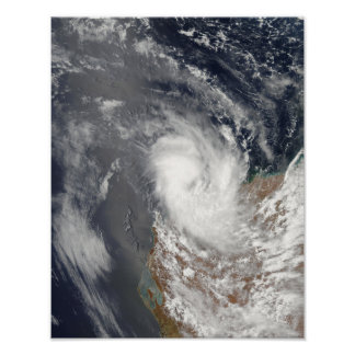 Cyclone Dominic off the shore of Western Austra Poster