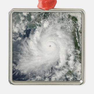 Cyclone Giri moves ashore over Burma Metal Ornament