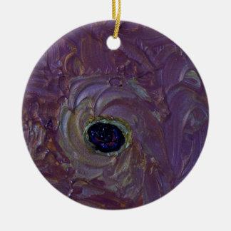 CYCLONE in PURPLE Ceramic Ornament