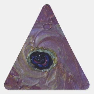 CYCLONE in PURPLE Triangle Sticker