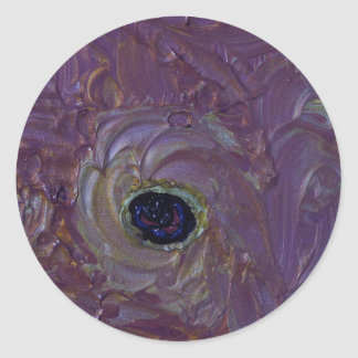 CYCLONE in PURPLE Round Sticker