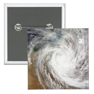 Cyclone Laurence moves far inland 2 Inch Square Button