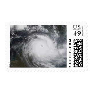 Cyclone Monica in the south Pacific Ocean Stamp
