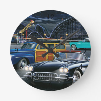 Cyclone Racer Round Clock