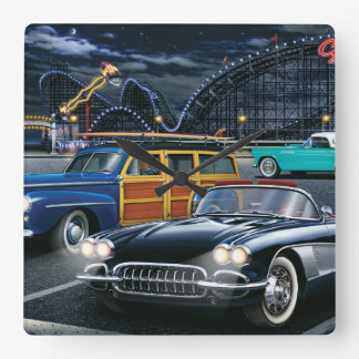 Cyclone Racer Square Wall Clock