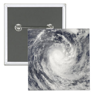 Cyclone Rene over the South Pacific Ocean 2 Inch Square Button