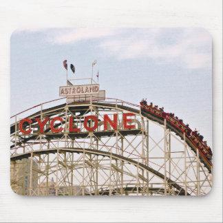 Cyclone Roller Coaster - Coney Island mousepad