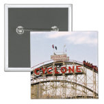 Cyclone Roller Coaster - Coney Island, NYC button