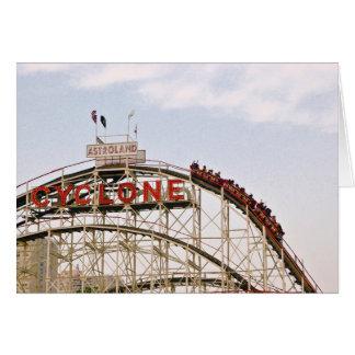 Cyclone Roller Coaster - Coney Island, NYC card