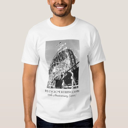 Cyclone Rollercoaster 75th Adult T-shirt