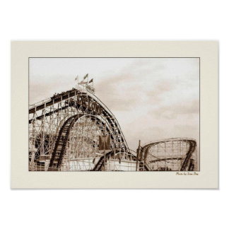Cyclone Rollercoaster Poster