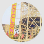 Cyclone Rollercoaster Sign Stickers