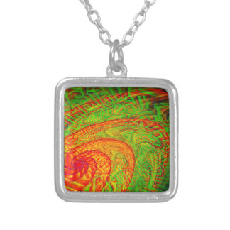 Cyclone Silver Plated Necklace