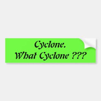 Cyclone, What Cyclone? Bumper Sticker