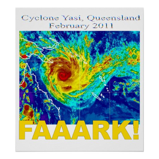 Cyclone Yasi, Queensland, February 2011 Poster