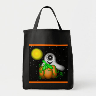 Cyclops Ghost Trick or Treat Canvas Bag