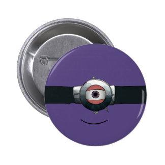 Cyclops goggled eye pinback button