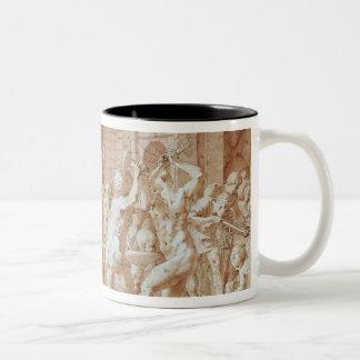 Cyclops in the Forge of Vulcan Two-Tone Coffee Mug