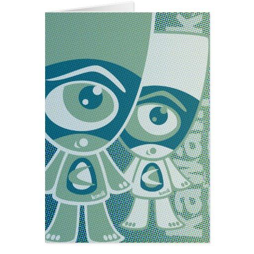 Cyclops Mascot Greeting Card