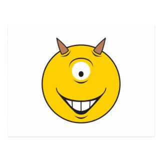 Cyclops Monster  Smiley Face Postcard