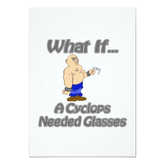 Cyclops Needs Glasses Personalized Announcement