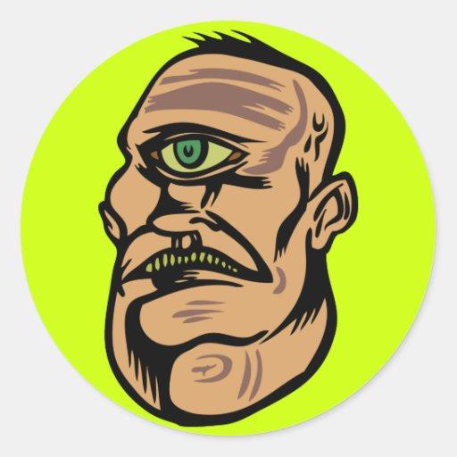 cyclops pegatina redonda