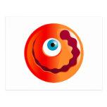 Cyclops rojos felices Smilie Tarjetas Postales