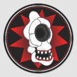 CYCLOPS SKULL 4r Round Stickers