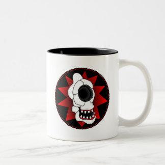 CYCLOPS SKULL 4r Two-Tone Coffee Mug