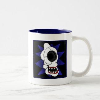 CYCLOPS SKULL 5s Two-Tone Coffee Mug