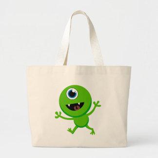 Cyclops verdes del bebé bolsa tela grande