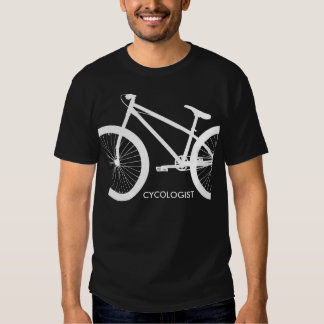 Cycologist White Bicycle Silhouette T Shirt
