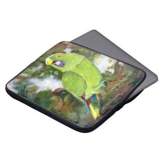 Cydney Yellow Naped Amazon Parrot Laptop Computer Sleeves